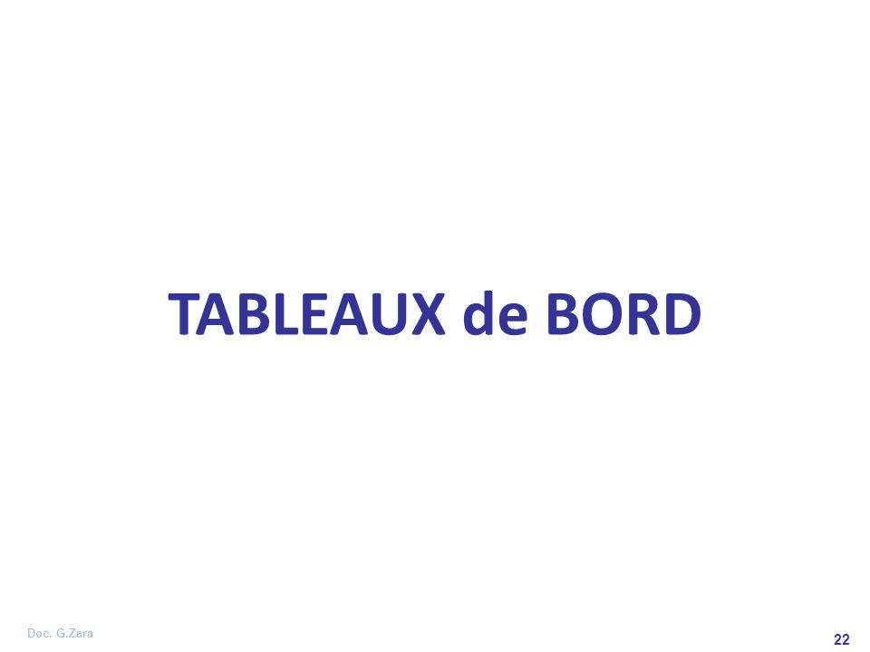 TABLEAUX de BORD 22