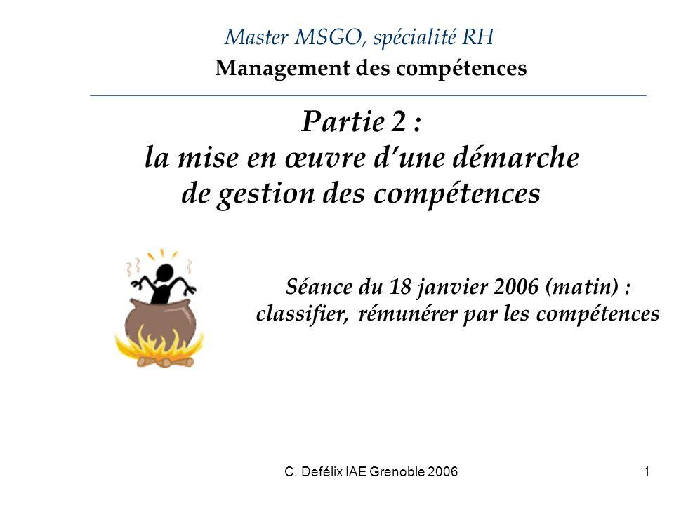 Master MSGO, spécialité RH