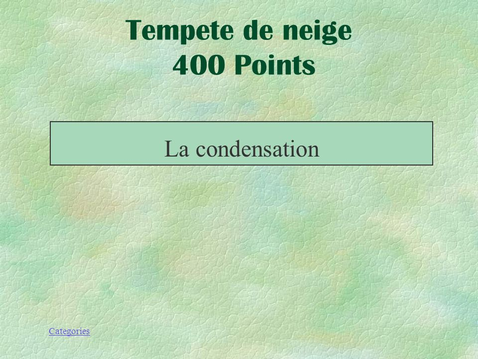 Tempete de neige 400 Points