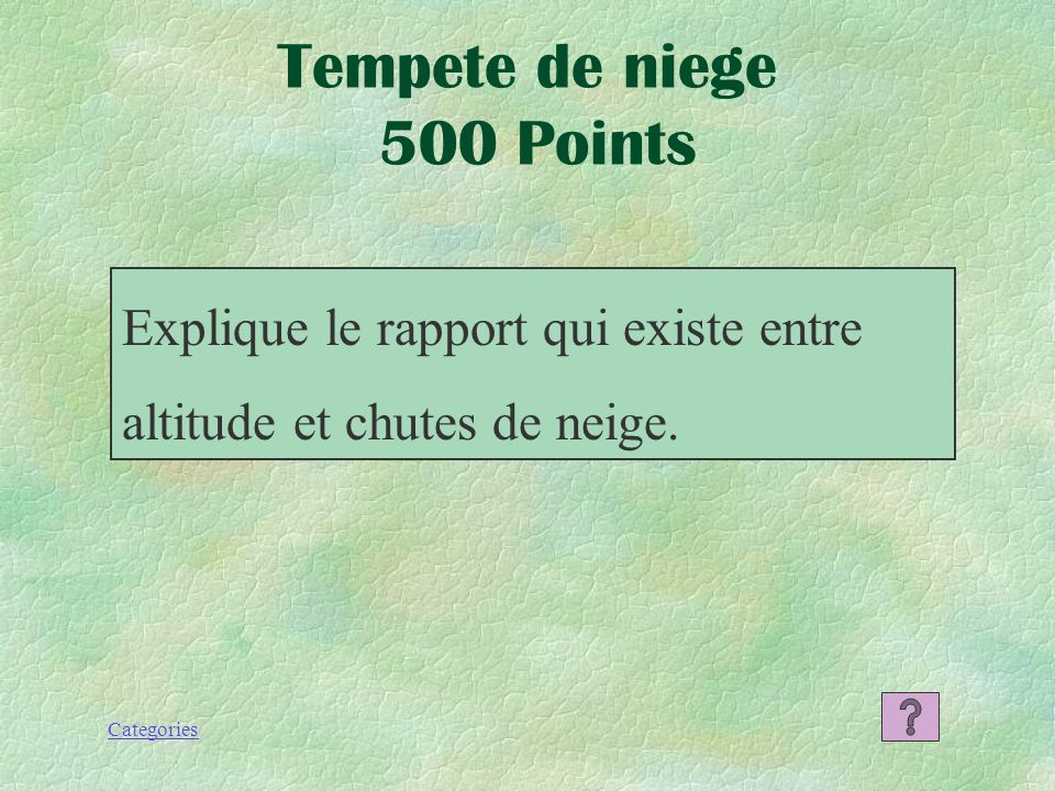 Tempete de niege 500 Points