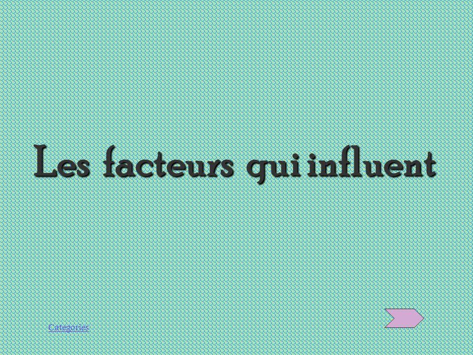 Les facteurs qui influent