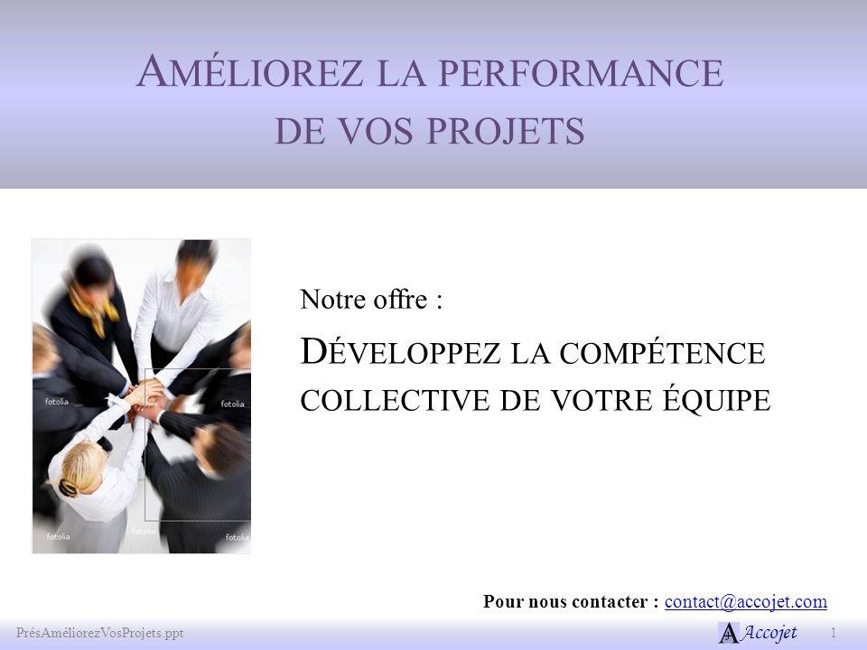 Améliorez la performance de vos projets