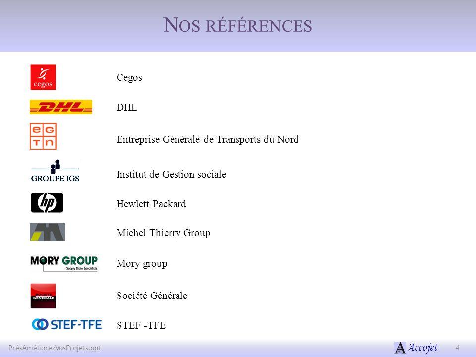 Nos références Cegos DHL Entreprise Générale de Transports du Nord