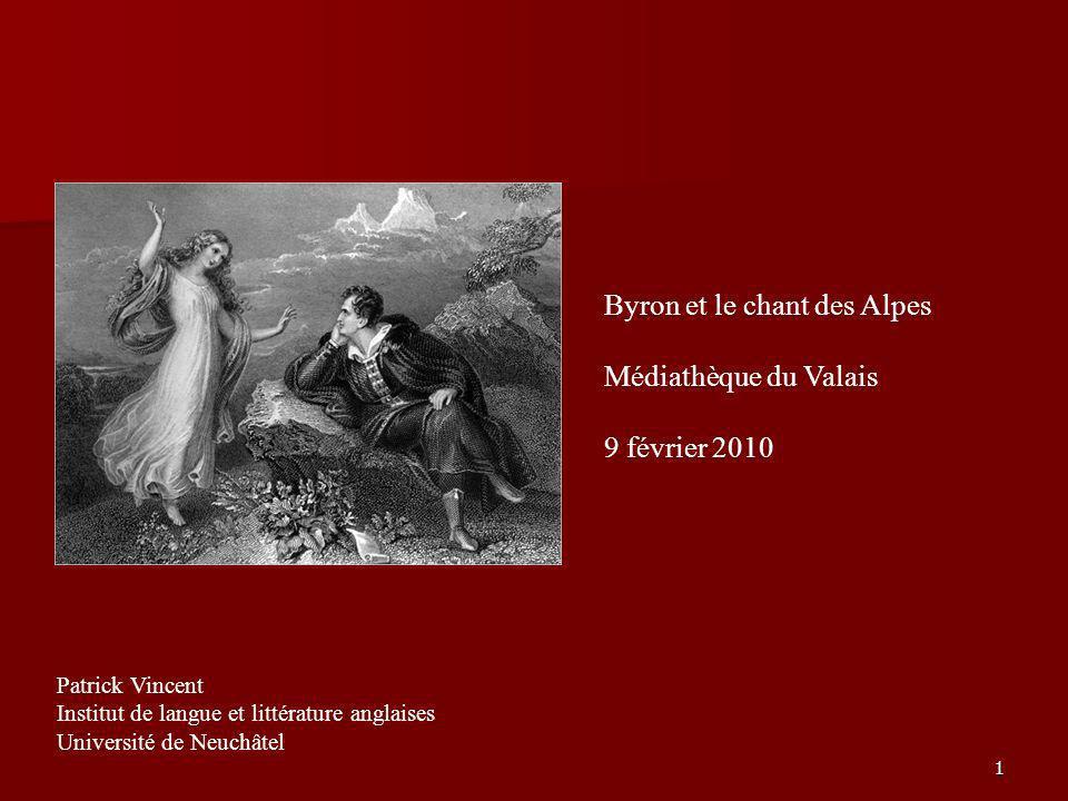Des mots et des notes: Byron et le chant des Alpes