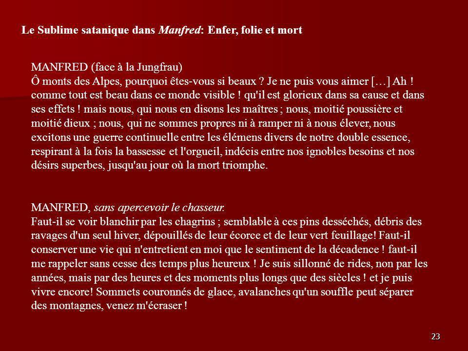 Le Sublime satanique dans Manfred: Enfer, folie et mort