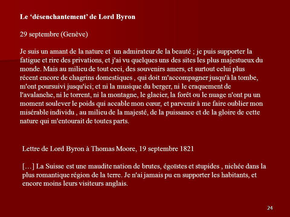 Le 'désenchantement' de Lord Byron
