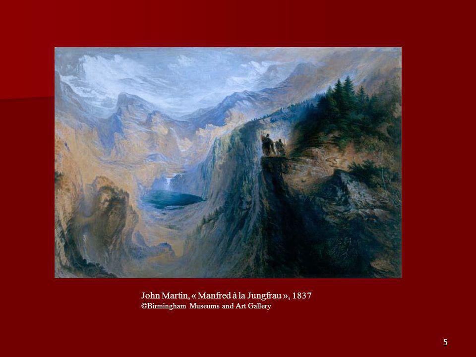 John Martin, « Manfred à la Jungfrau », 1837