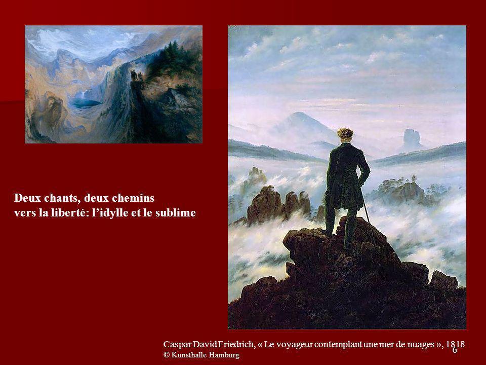Deux chants, deux chemins vers la liberté: l'idylle et le sublime