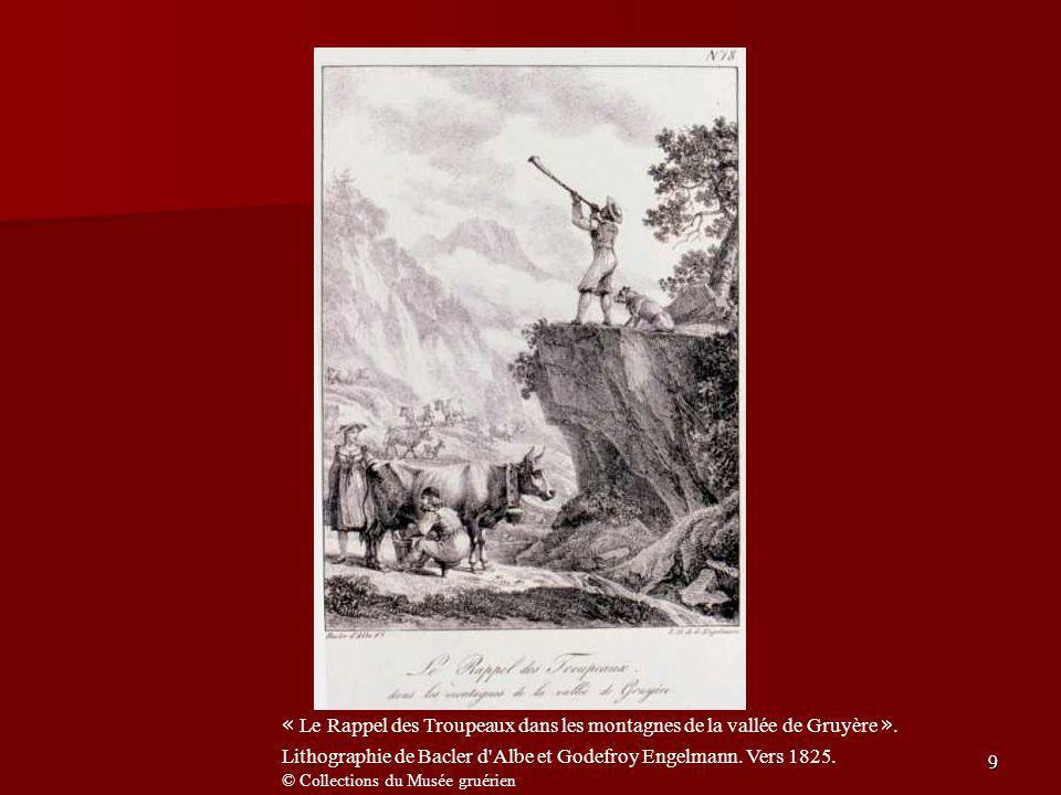 « Le Rappel des Troupeaux dans les montagnes de la vallée de Gruyère »