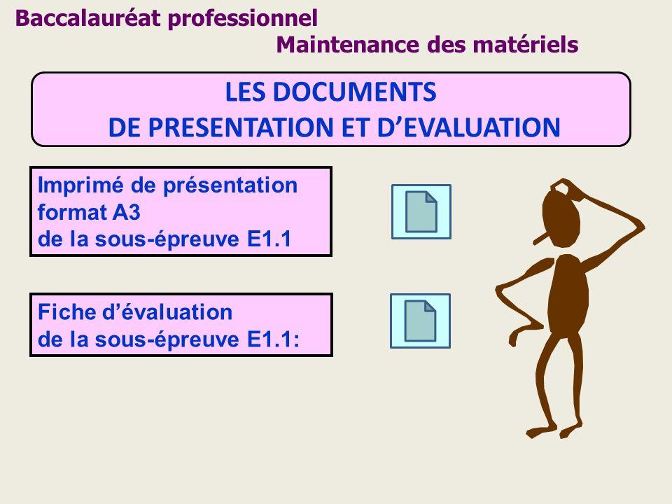 DE PRESENTATION ET D'EVALUATION