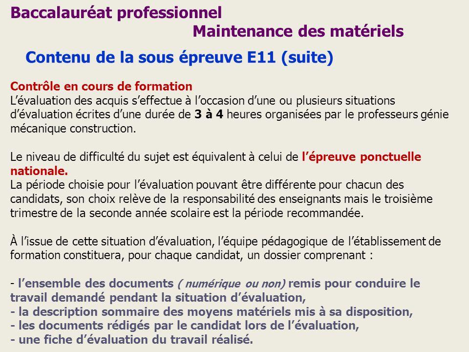 Baccalauréat professionnel Maintenance des matériels