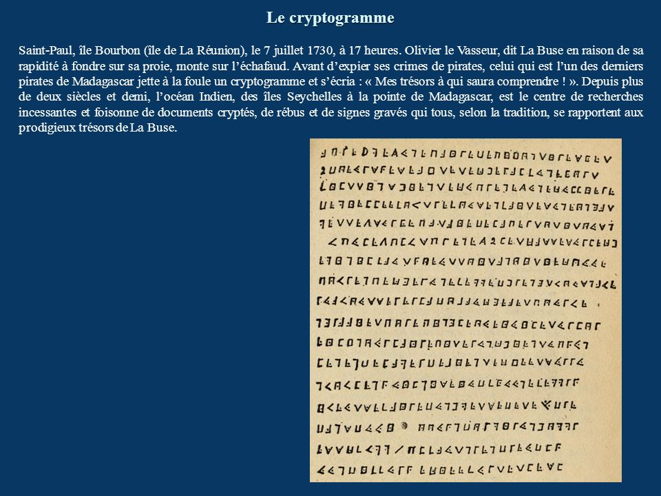Le cryptogramme