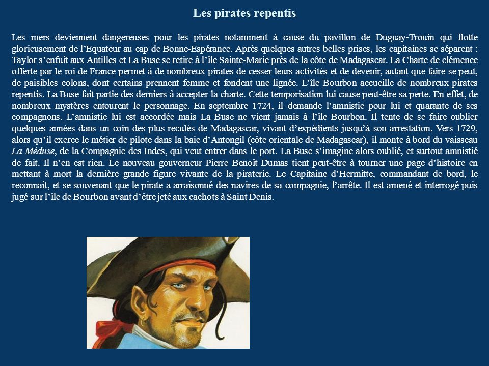 Les pirates repentis