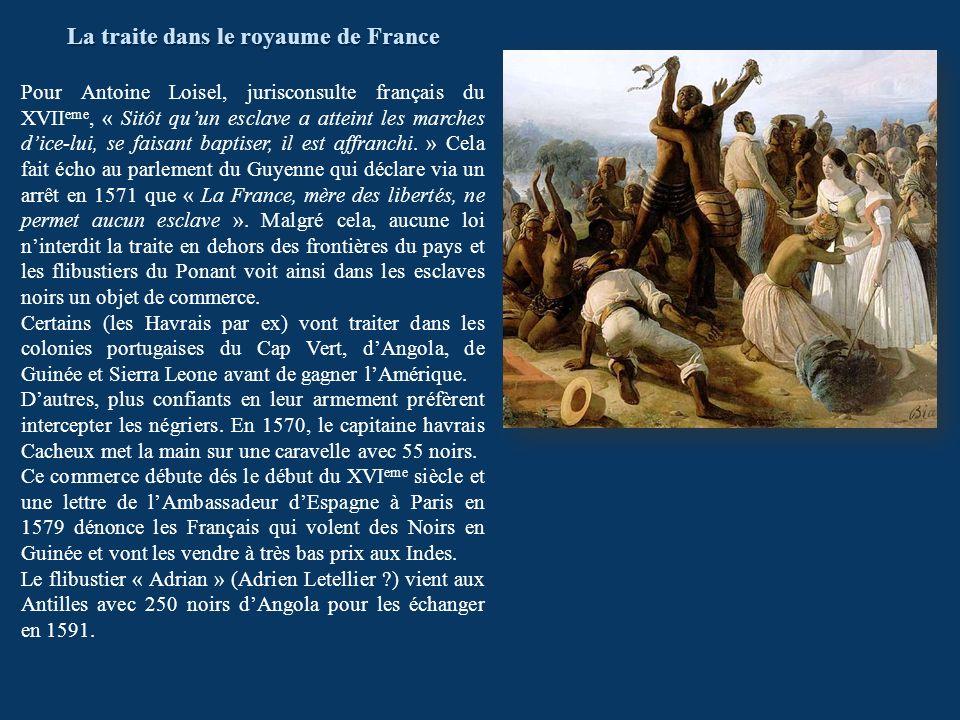 La traite dans le royaume de France