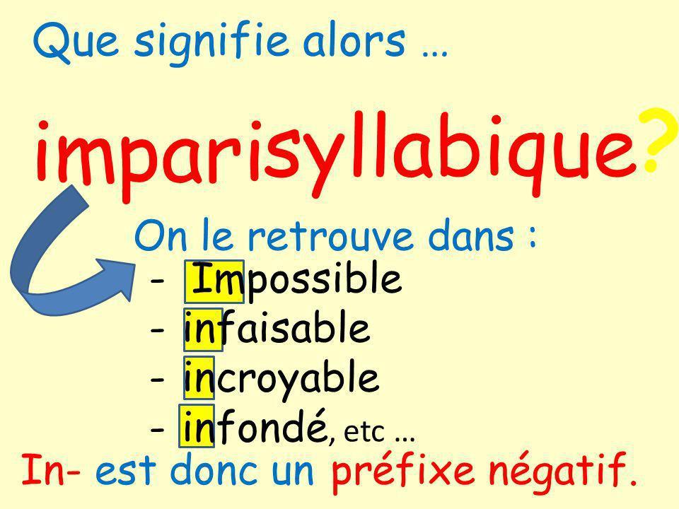 syllabique im pari Que signifie alors … On le retrouve dans :