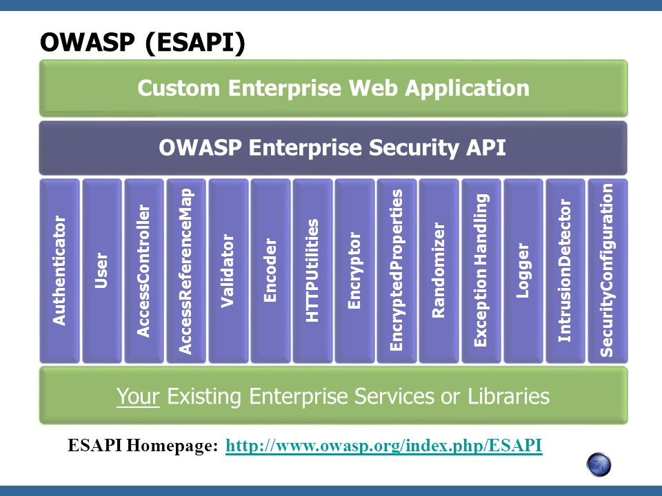 OWASP (ESAPI) Custom Enterprise Web Application