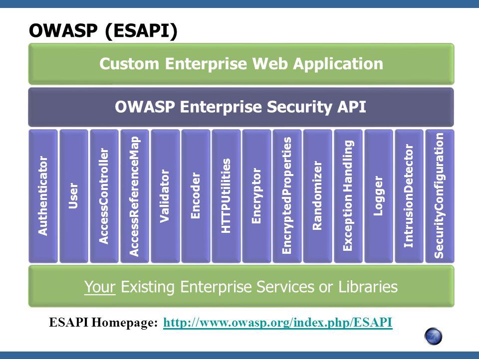 OWASP (ESAPI) Custom Enterprise Web Application