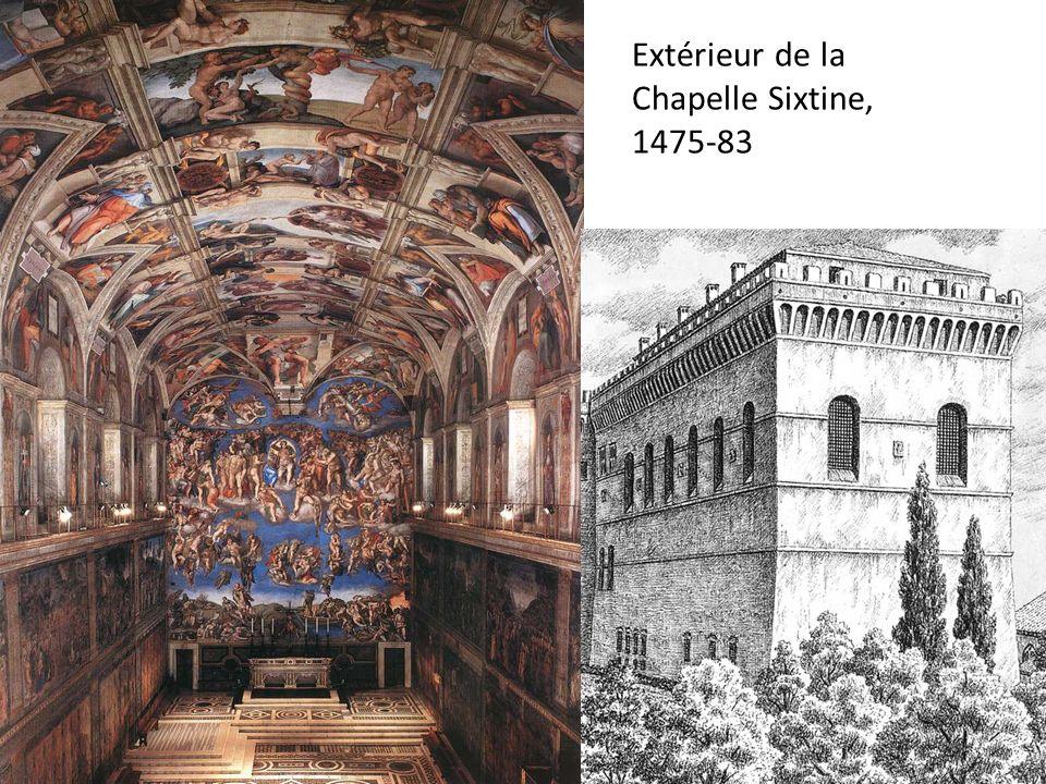 Extérieur de la Chapelle Sixtine, 1475-83