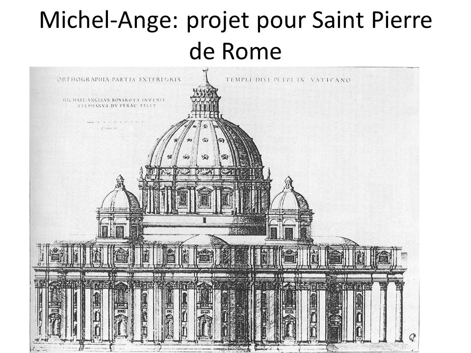 Michel-Ange: projet pour Saint Pierre de Rome