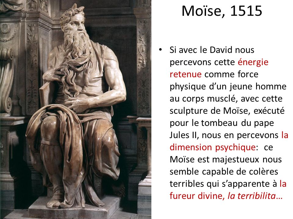 Moïse, 1515