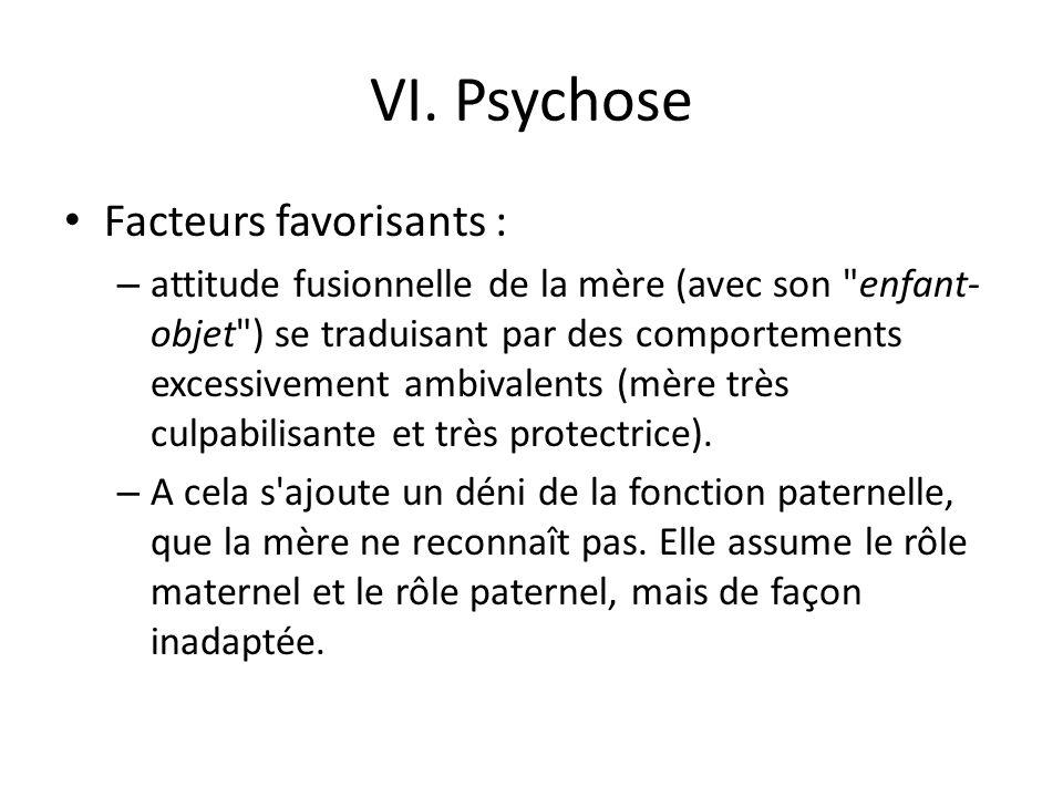 VI. Psychose Facteurs favorisants :