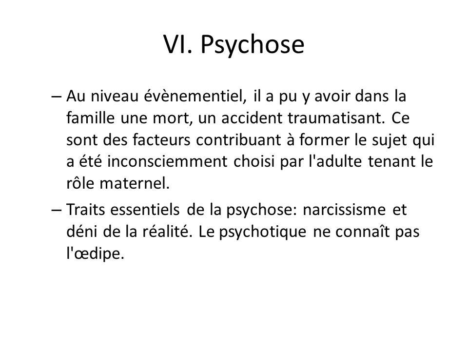 VI. Psychose