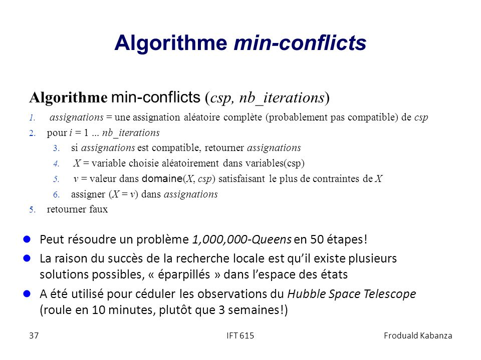 Algorithme min-conflicts