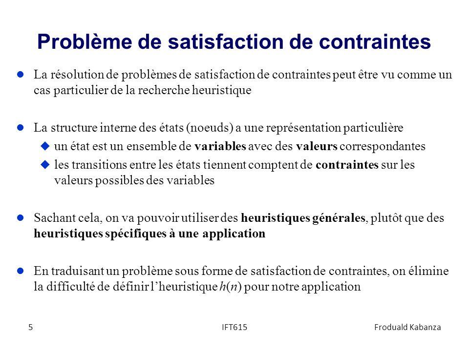 Problème de satisfaction de contraintes