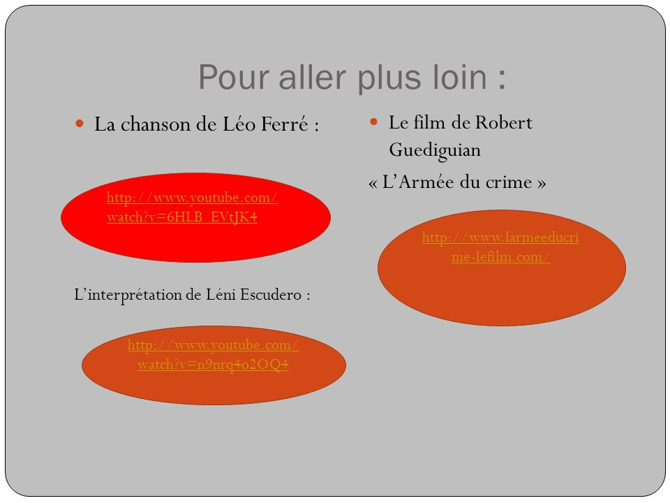 Pour aller plus loin : La chanson de Léo Ferré :