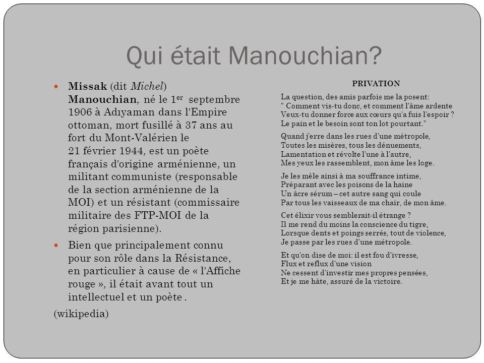 Qui était Manouchian
