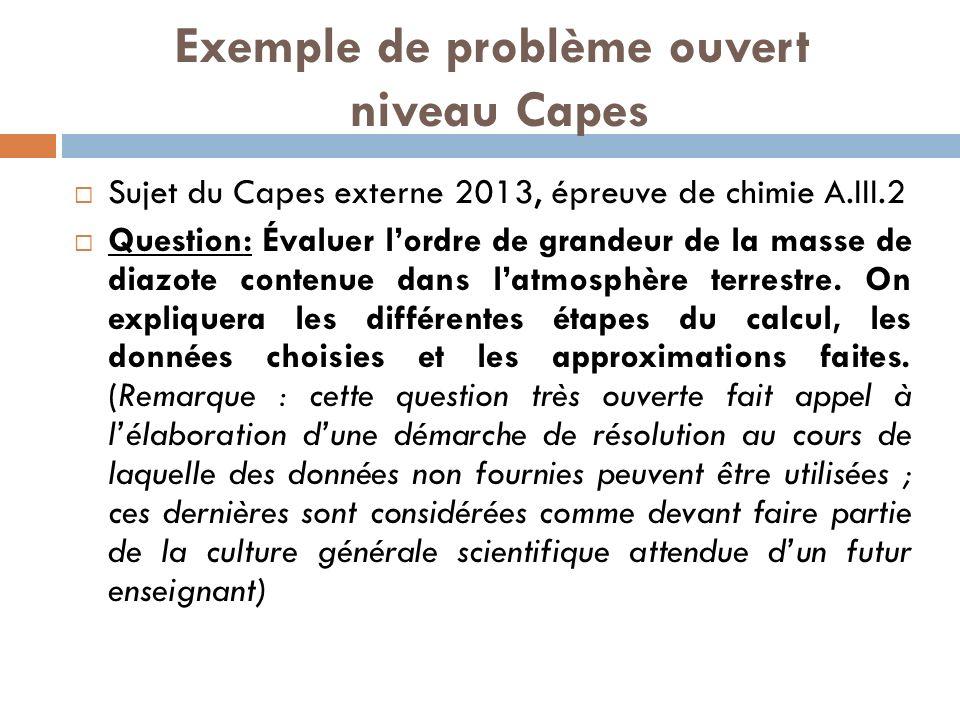 Exemple de problème ouvert niveau Capes