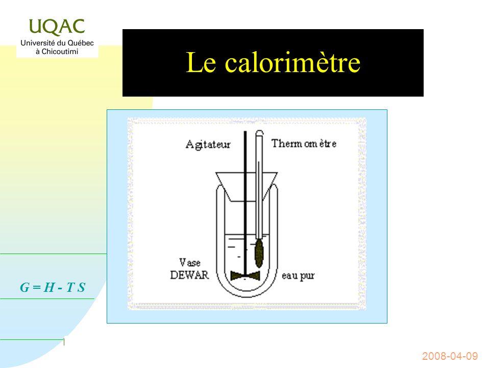 Le calorimètre 2008-04-09