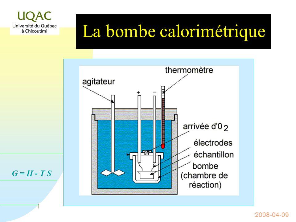 La bombe calorimétrique
