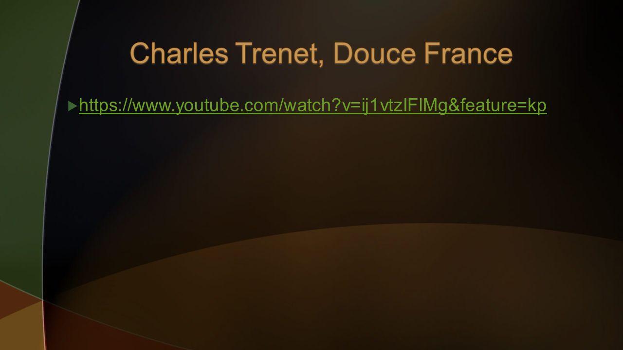 Charles Trenet, Douce France