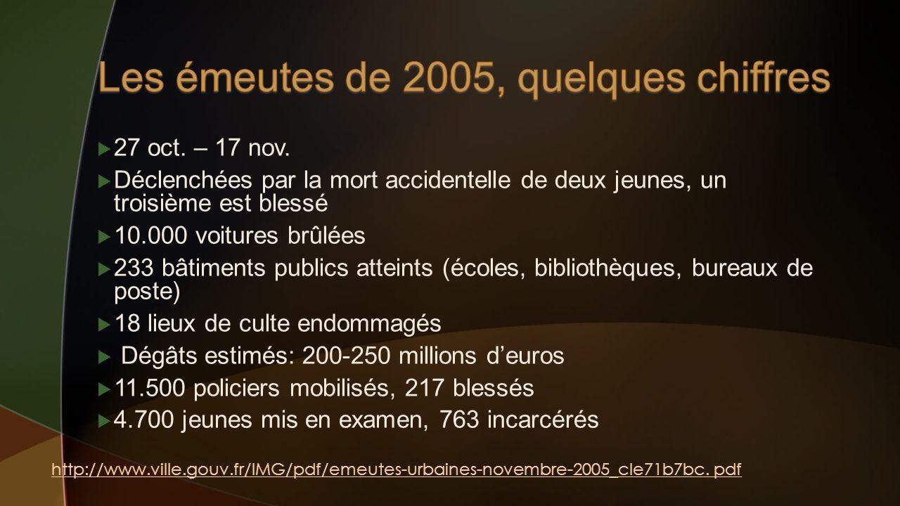 Les émeutes de 2005, quelques chiffres