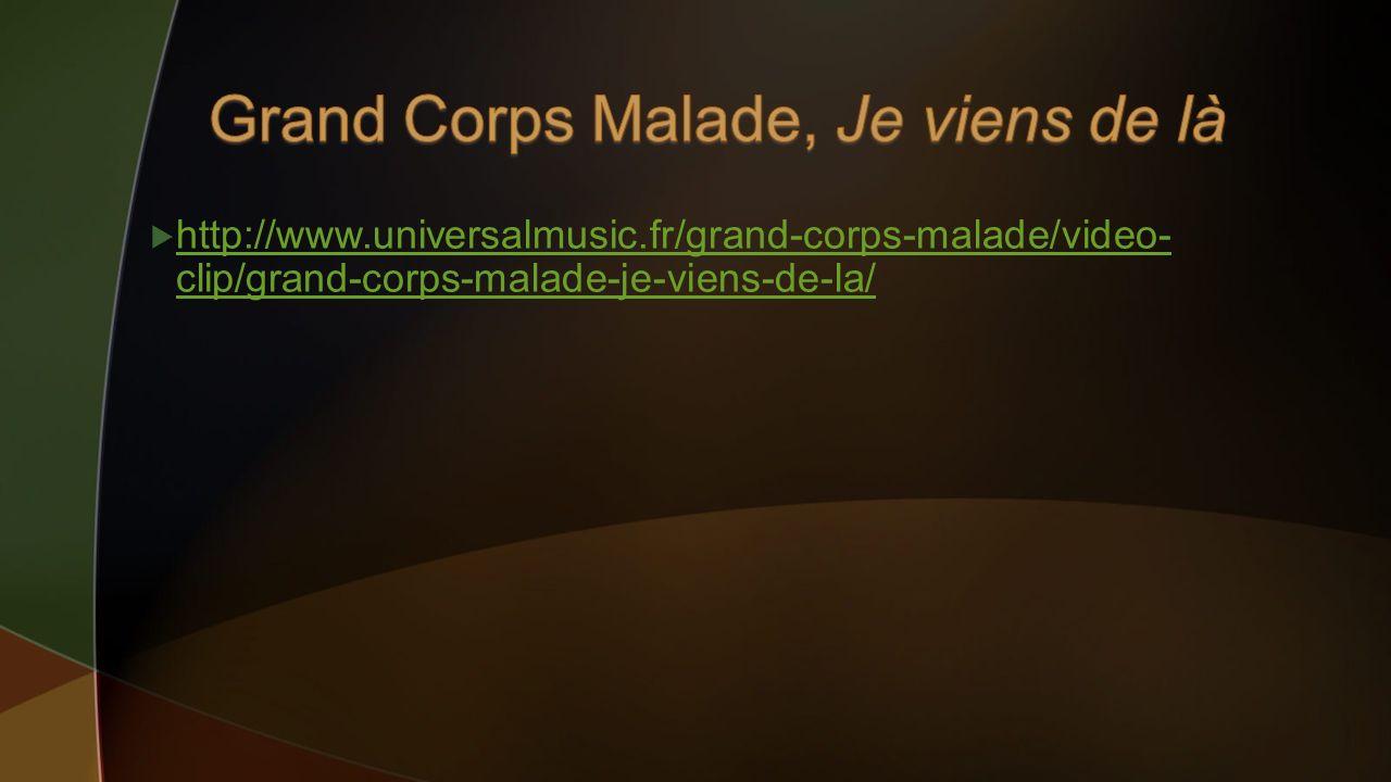 Grand Corps Malade, Je viens de là