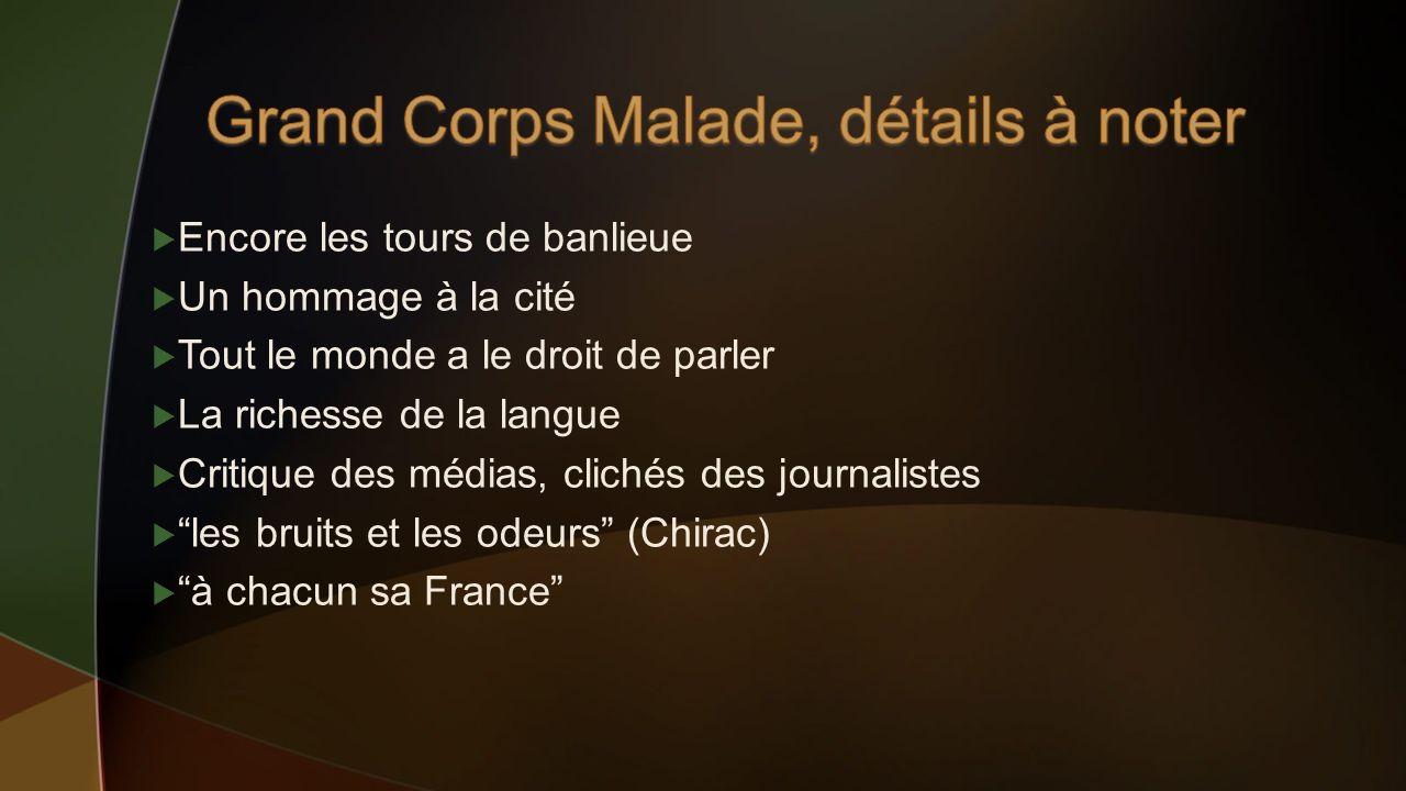 Grand Corps Malade, détails à noter
