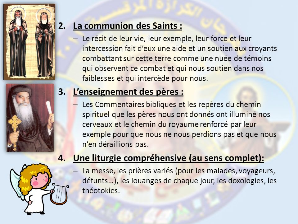 La communion des Saints :
