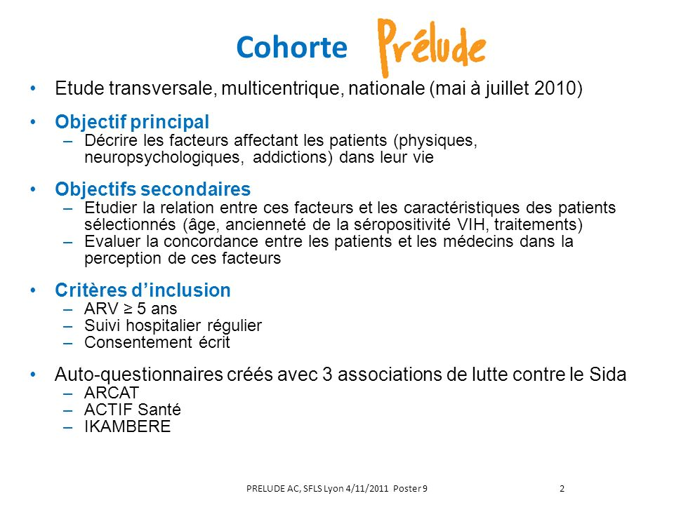 PRELUDE AC, SFLS Lyon 4/11/2011 Poster 9
