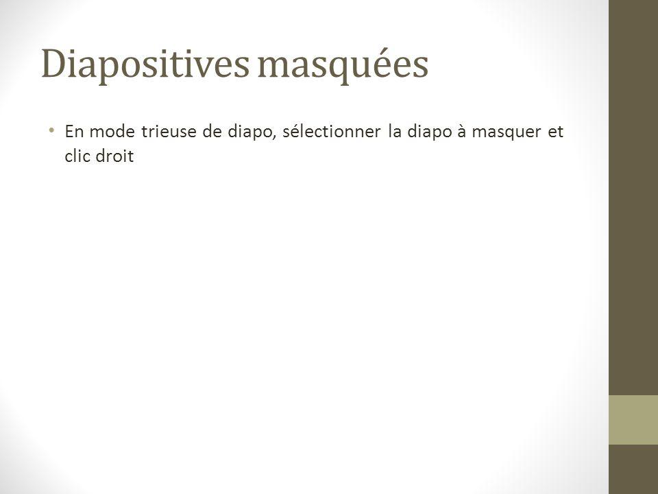 Diapositives masquées