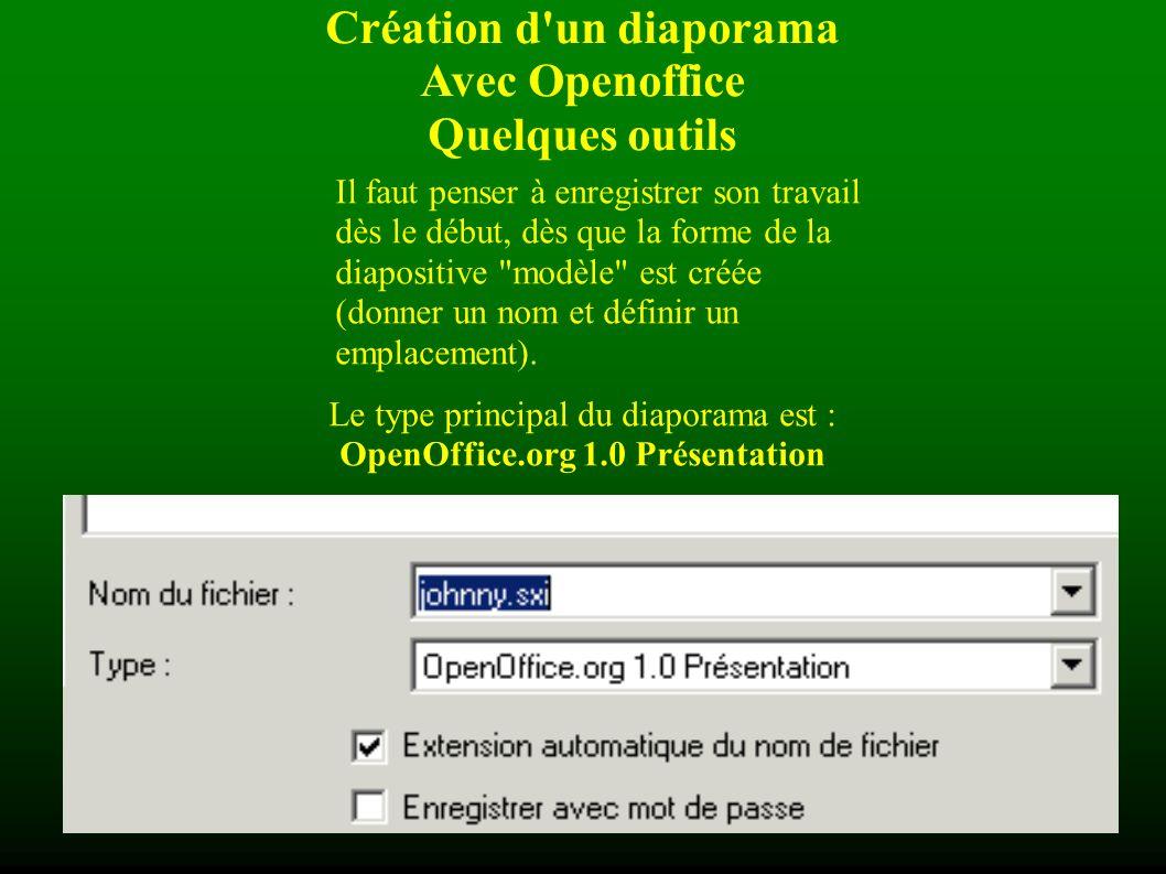 Création d un diaporama OpenOffice.org 1.0 Présentation