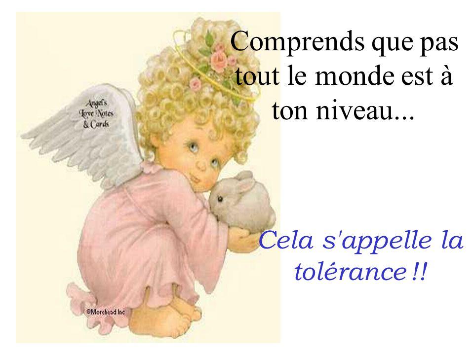 Cela s appelle la tolérance !!