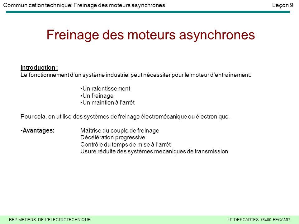 Freinage des moteurs asynchrones