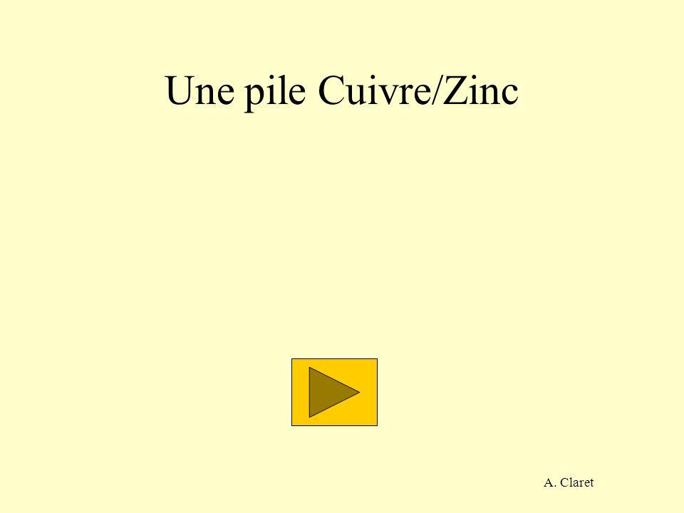 Une pile Cuivre/Zinc A. Claret