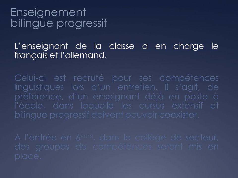 Enseignement bilingue progressif
