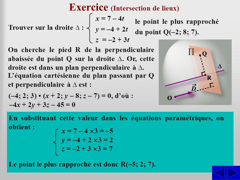 Exercice (Intersection de lieux)