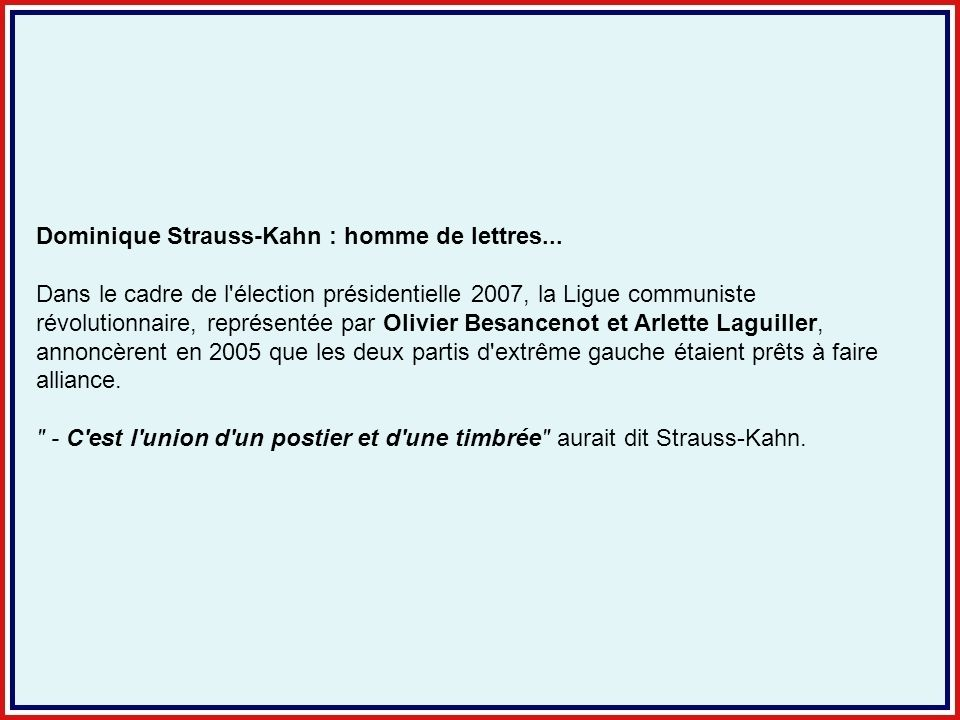 Dominique Strauss-Kahn : homme de lettres...