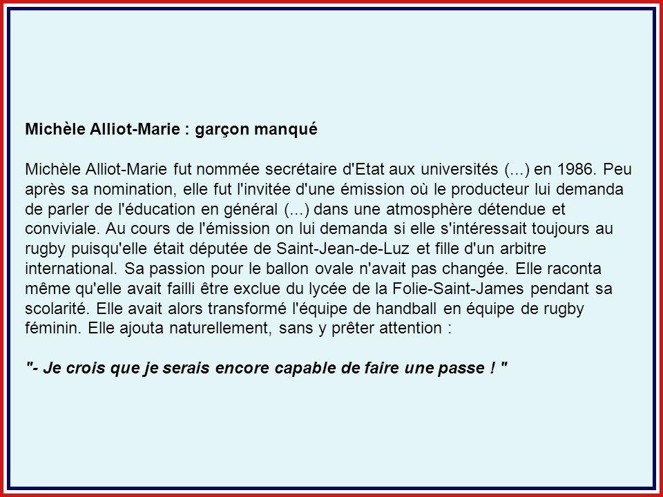 Michèle Alliot-Marie : garçon manqué