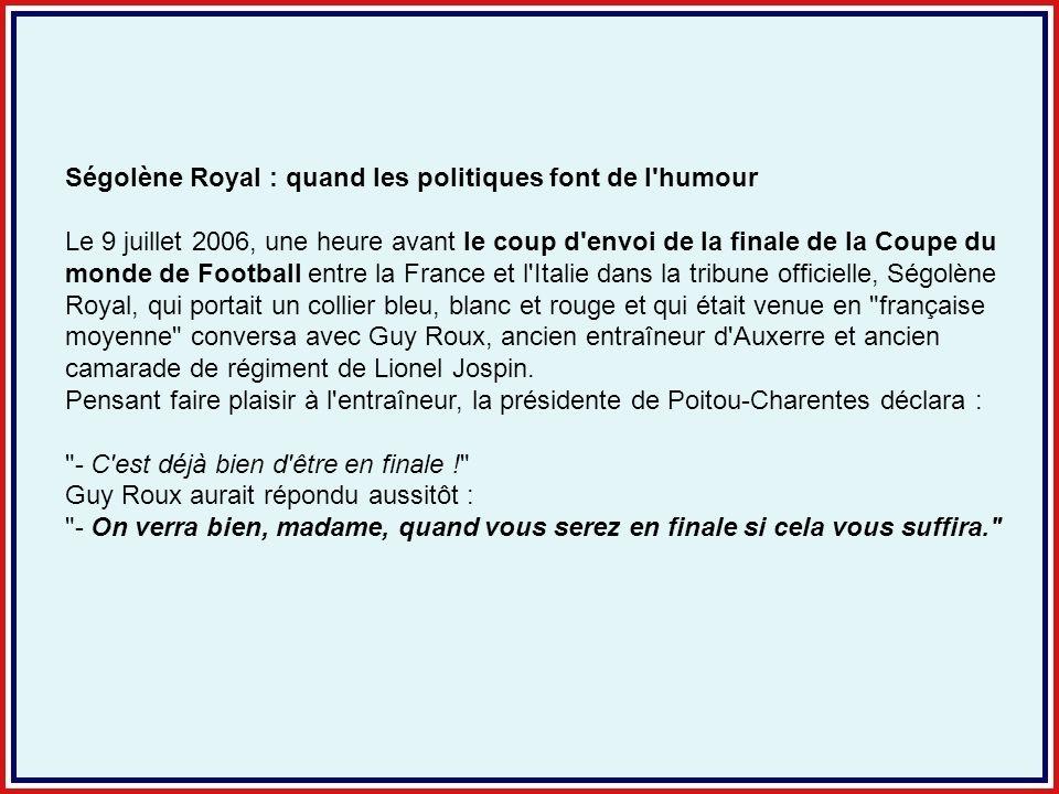 Ségolène Royal : quand les politiques font de l humour