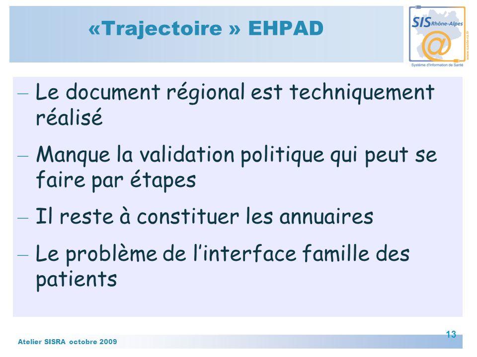 Le document régional est techniquement réalisé